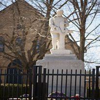Priceville Cenotaph outside former St. Columba's United Church